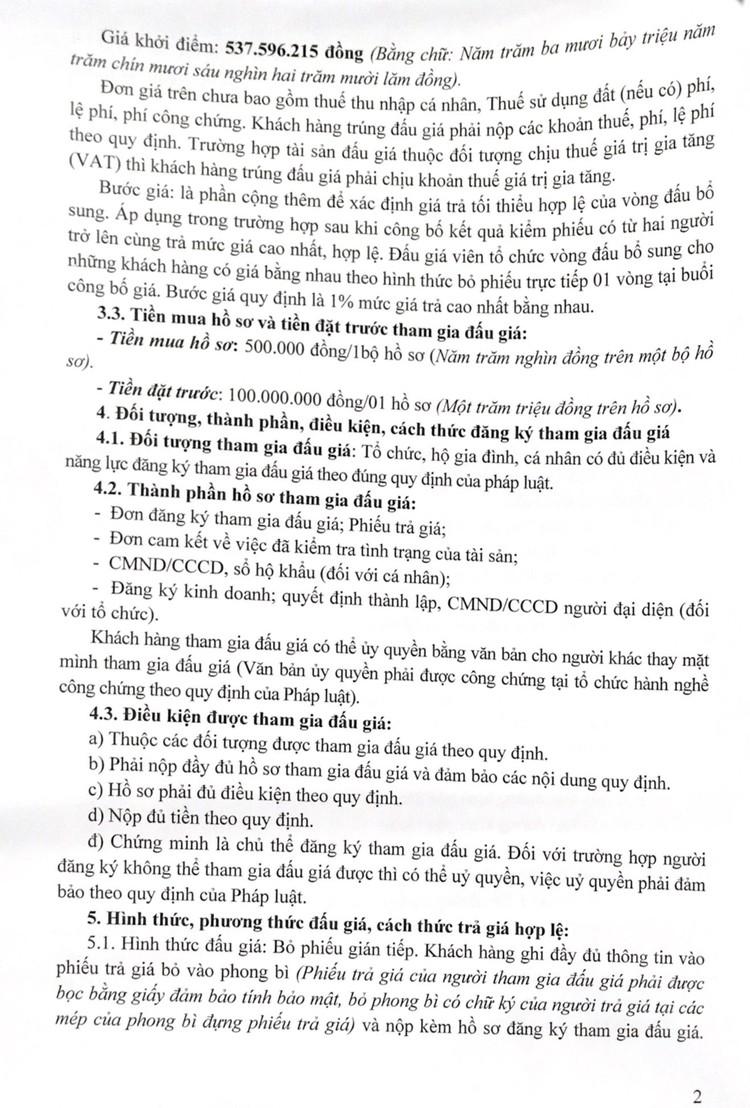 Ngày 27/8/2021, đấu giá quyền sử dụng đất tại huyện Ngọc Lặc, tỉnh Thanh Hóa ảnh 3