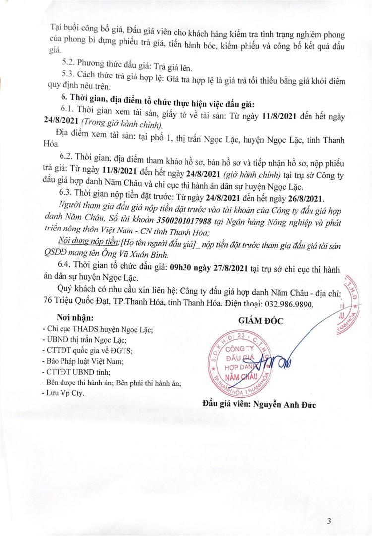 Ngày 27/8/2021, đấu giá quyền sử dụng đất tại huyện Ngọc Lặc, tỉnh Thanh Hóa ảnh 4