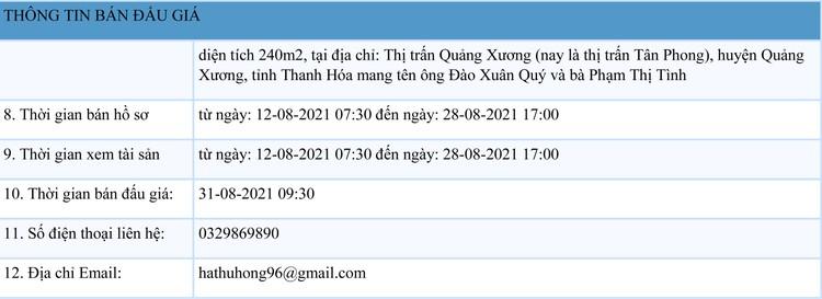Ngày 31/8/2021, đấu giá quyền sử dụng đất tại huyện Quảng Xương, tỉnh Thanh Hóa ảnh 2