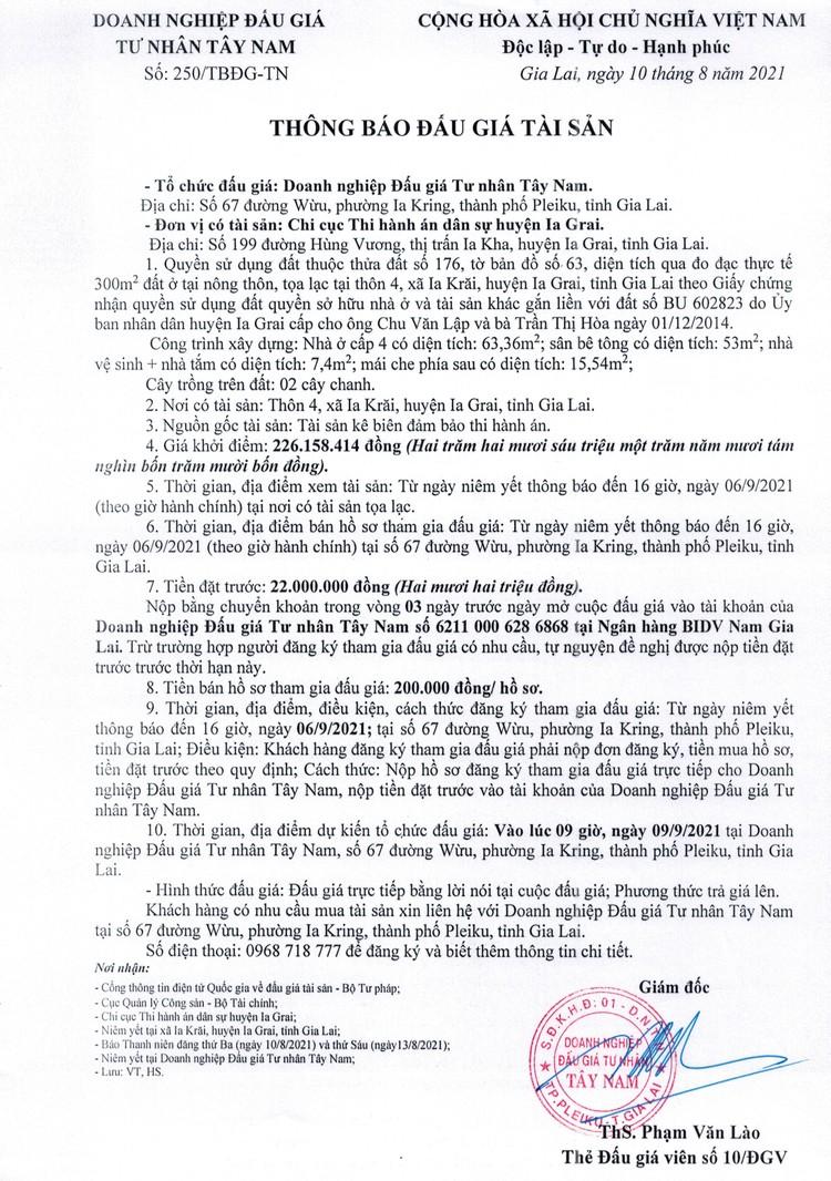Ngày 9/9/2021, đấu giá quyền sử dụng đất tại huyện Ia Grai, tỉnh Gia Lai ảnh 2