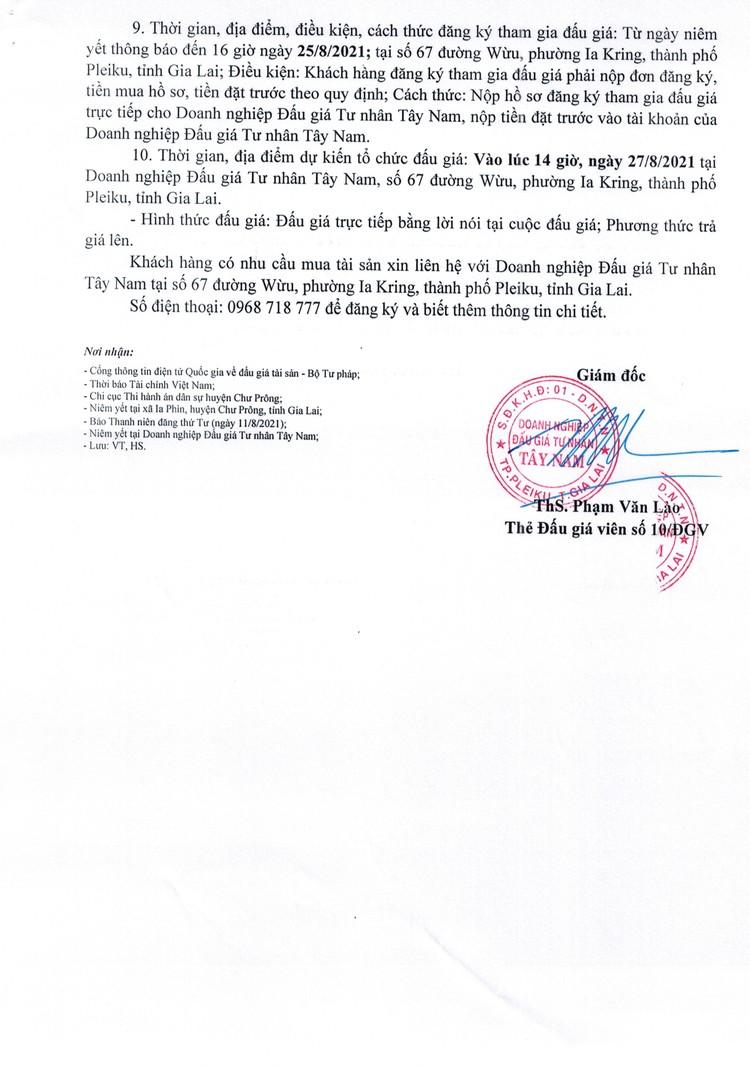 Ngày 27/8/2021, đấu giá quyền sử dụng đất tại huyện Chư Prông, tỉnh Gia Lai ảnh 3