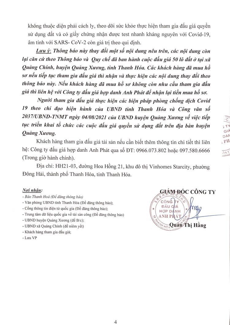 Ngày 29/8/2021, đấu giá quyền sử dụng 50 lô đất tại huyện Quảng Xương, tỉnh Thanh Hoá ảnh 5