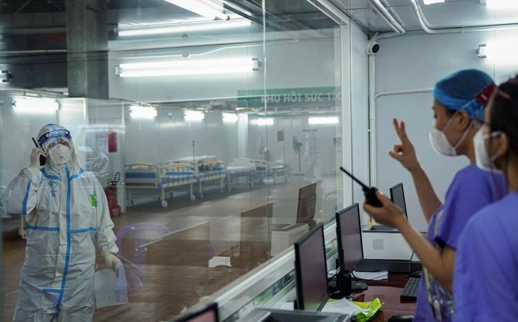 Trung tâm hồi sức cấp cứu F0 được lập từ nhà xưởng ở TP.HCM ảnh 5