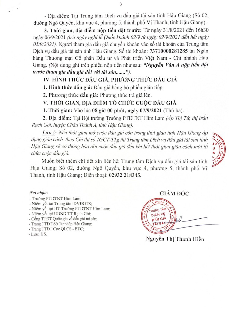 Ngày 7/9/2021, đấu giá cho thuê mặt bằng nhà giữ xe, căn tin tại Trường PTDTNT Him Lam, tỉnh Hậu Giang ảnh 4