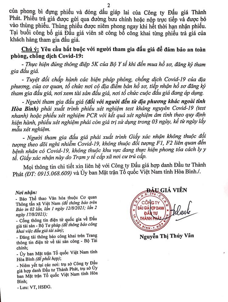 Ngày 27/8/2021, đấu giá xe ô tô KIA CERATO tại tỉnh Hòa Bình ảnh 3