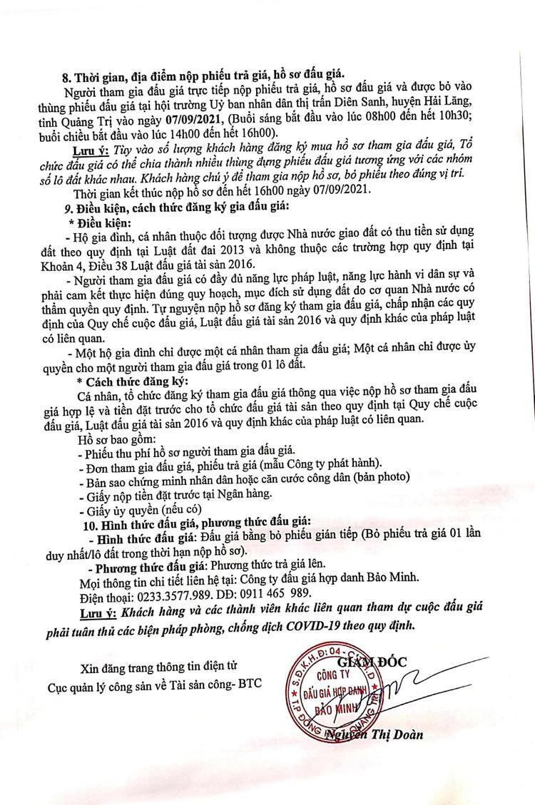 Ngày 9/9/2021, đấu giá quyền sử dụng 57 lô đất tại huyện Hải Lăng, tỉnh Quảng Trị ảnh 4