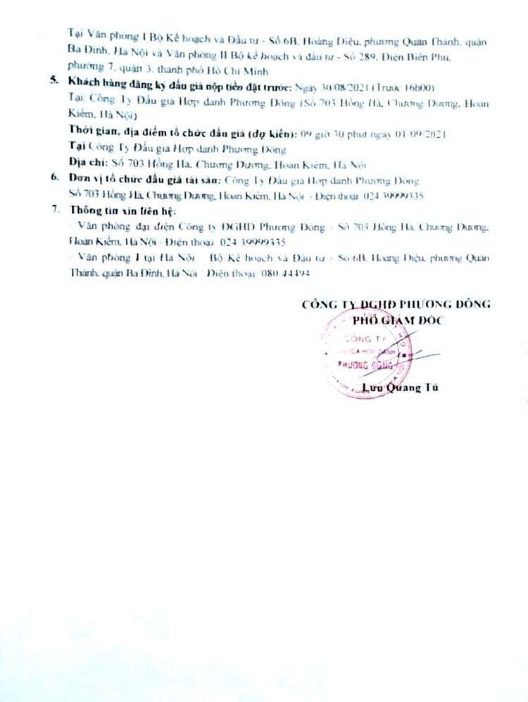 Ngày 1/9/2021, đấu giá 03 xe ô tô thanh lý tại Hà Nội ảnh 3