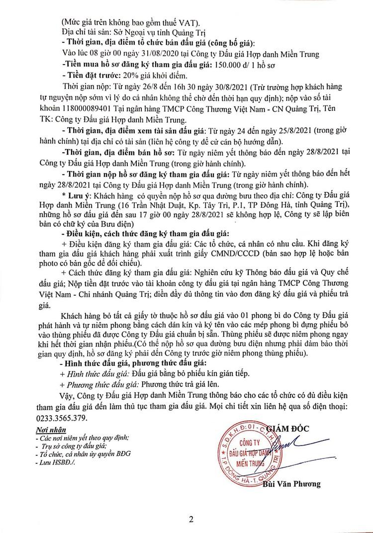 Ngày 31/8/2021, đấu giá ô tô, xe máy và máy móc thi công tại tỉnh Quảng Trị ảnh 5