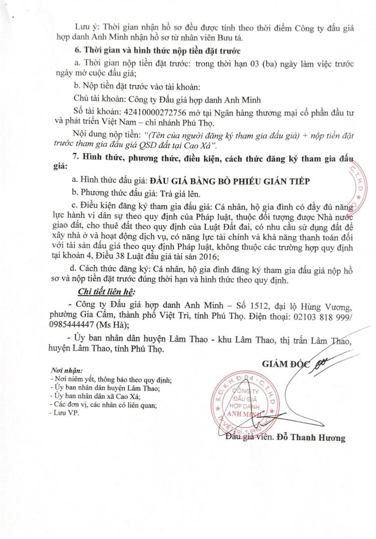 Ngày 4/9/2021, đấu giá quyền sử dụng 16 ô đất tại huyện Lâm Thao, tỉnh Phú Thọ ảnh 4