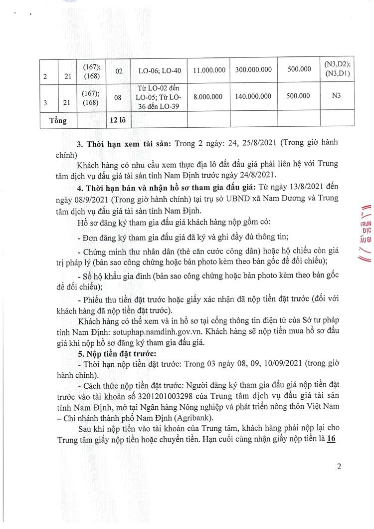 Ngày 11/9/2021, đấu giá quyền sử dụng 12 lô đất tại huyện Nam Trực, tỉnh Nam Định ảnh 3