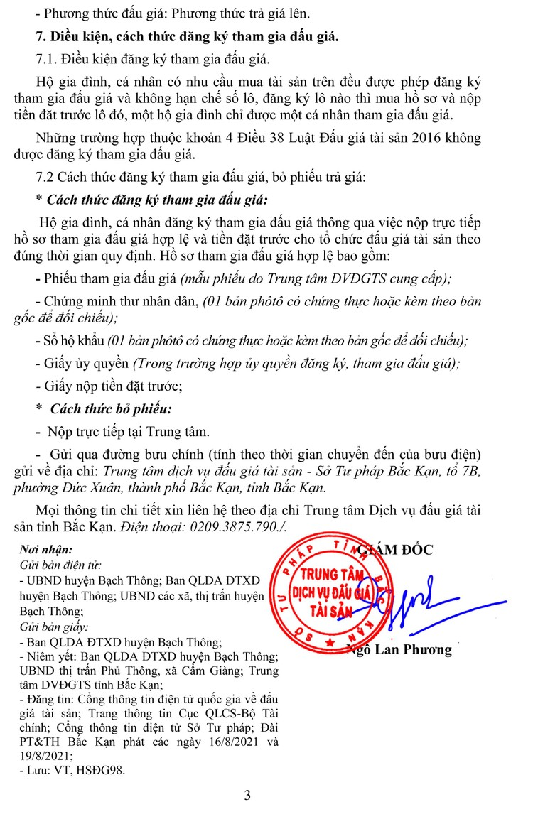Ngày 9/9/2021, đấu giá quyền sử dụng đất tại huyện Bạch Thông, tỉnh Bắc Kạn ảnh 4