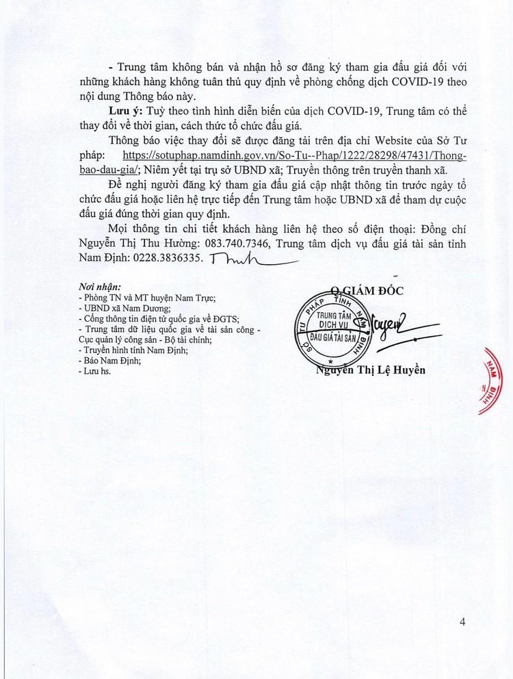 Ngày 11/9/2021, đấu giá quyền sử dụng 12 lô đất tại huyện Nam Trực, tỉnh Nam Định ảnh 5