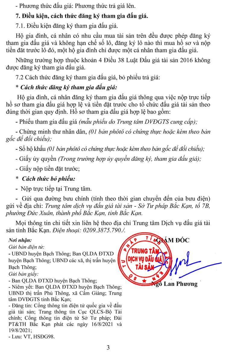 Ngày 9/9/2021, đấu giá quyền sử dụng đất tại huyện Bạch Thông, tỉnh Bắc Kạn ảnh 7