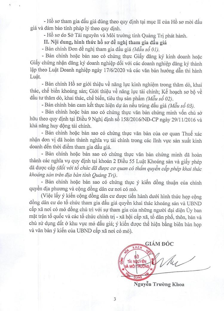 Ngày 20/11/2021, đấu giá 9 mỏ cát, sỏi tại tỉnh Quảng Trị ảnh 5