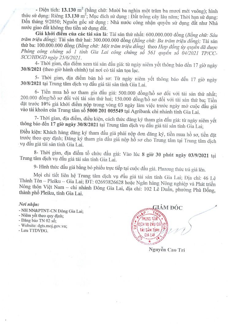 Ngày 3/9/2021, đấu giá quyền sử dụng đất tại huyện Đak Đoa, tỉnh Gia Lai ảnh 5