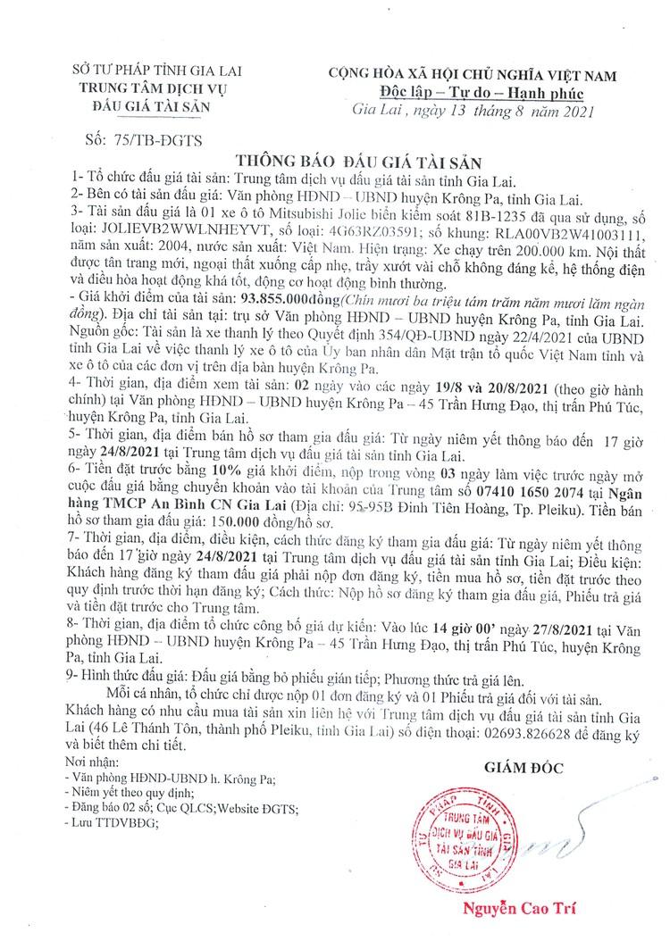 Ngày 27/8/2021, đấu giá xe ô tô Mitsubishi Jolie tại tỉnh Gia Lai ảnh 3