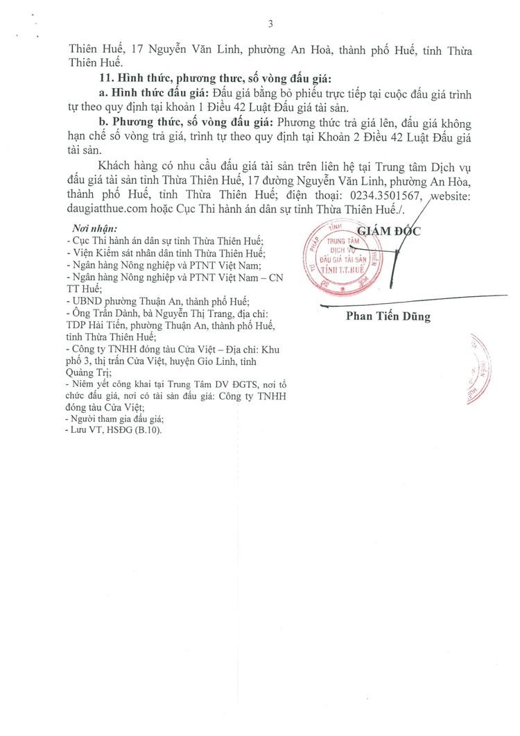 Ngày 10/9/2021, đấu giá 1 chiếc tàu cá vỏ thép tại tỉnh Thừa Thiên Huế ảnh 5