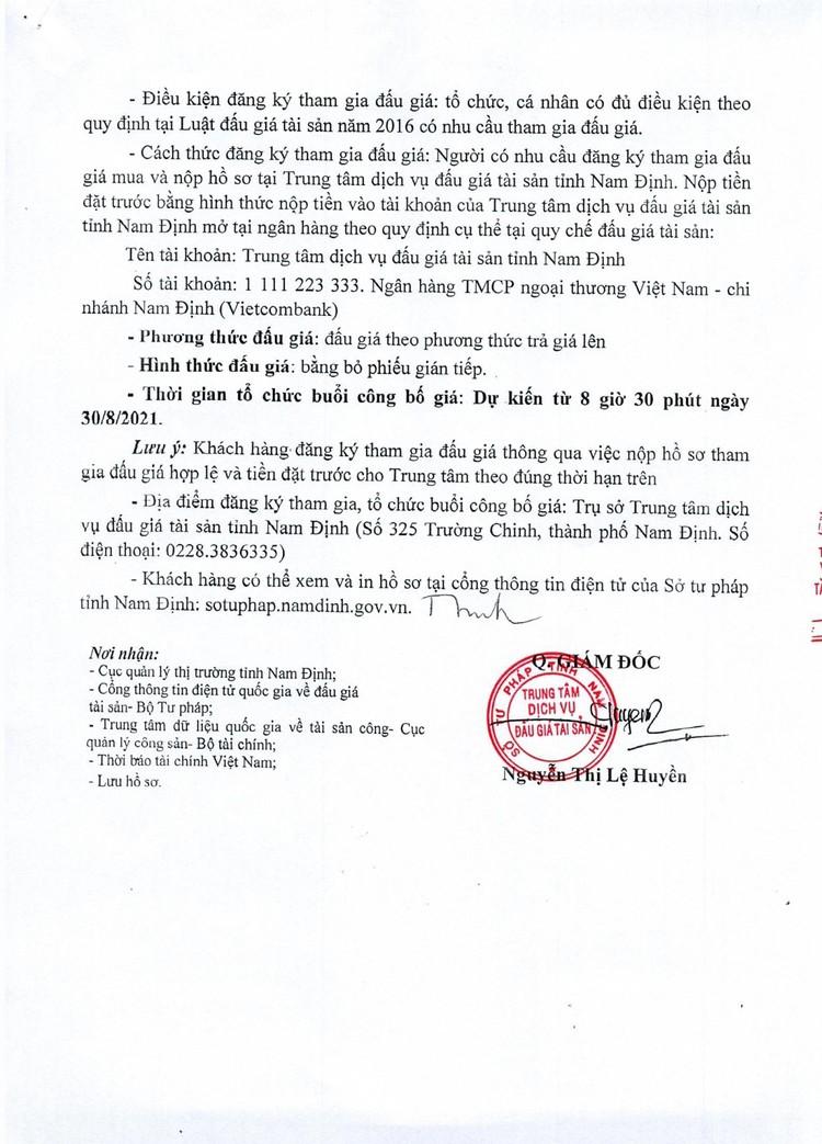 Ngày 30/8/2021, đấu giá hàng hoá tang vật vi phạm hành chính tại tỉnh Nam Định ảnh 3