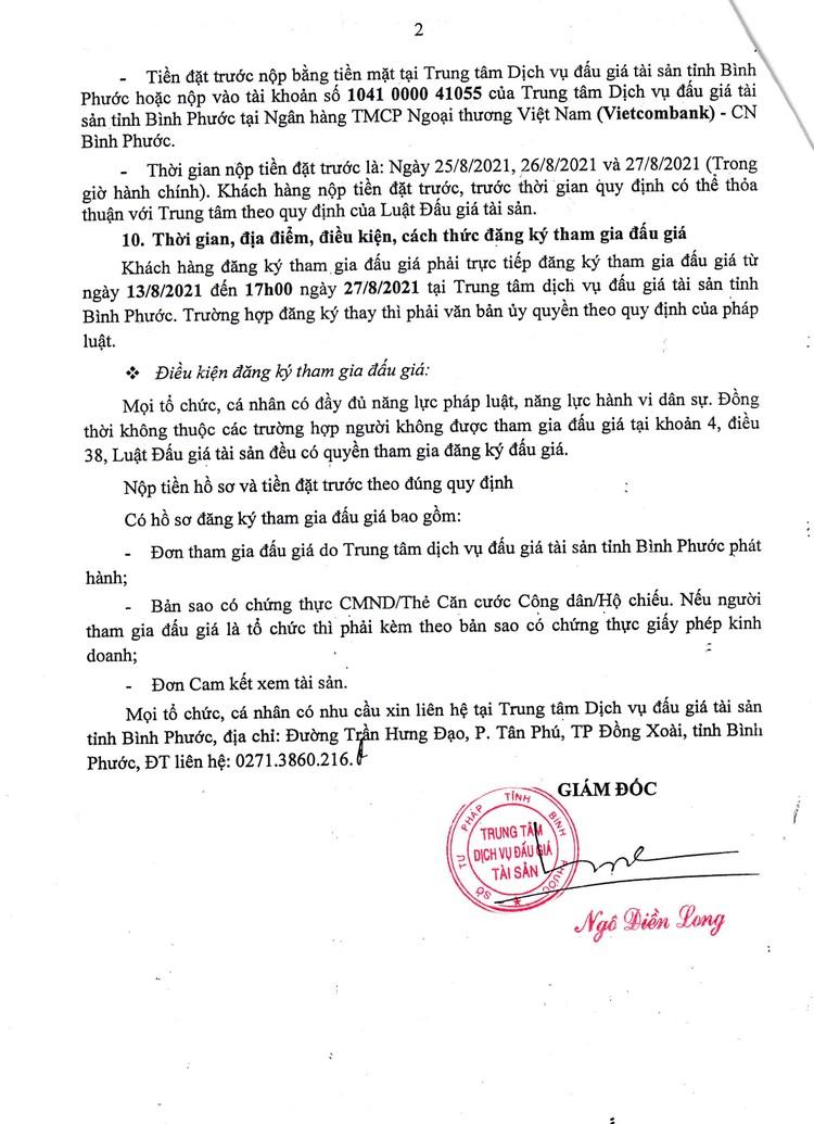 Ngày 30/8/2021, đấu giá hàng hoá tang vật vi phạm hành chính tại tỉnh Bình Phước ảnh 3