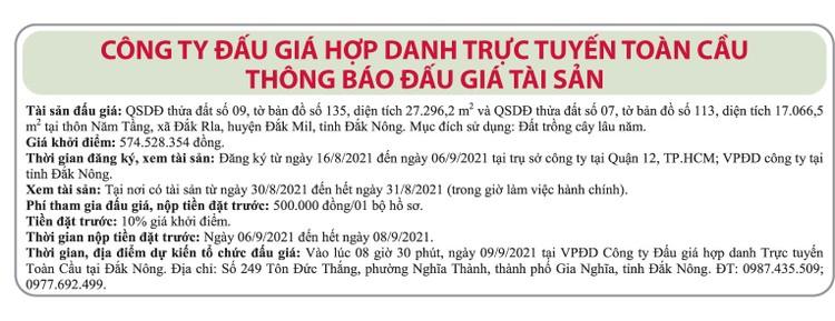 Ngày 9/9/2021, đấu giá quyền sử dụng 27.296,2 m2 đất tại huyện Đắk Mil, tỉnh Đắk Nông ảnh 1