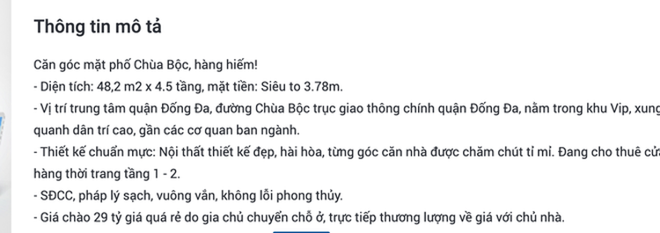 Hà Nội: Tin rao bán nhà phố ở Chùa Bộc bất ngờ tăng vọt, giá 300-600 triệu đồng/m2 ảnh 1