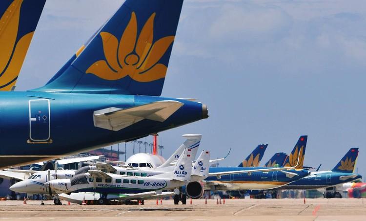 Gần trăm máy bay dầm mưa, dãi nắng ở Nội Bài ảnh 14