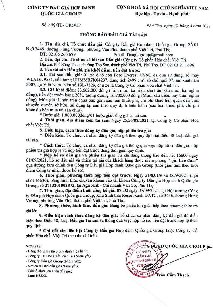 Ngày 7/9/2021, đấu giá xe ô tô Ford Everest tại tỉnh Phú Thọ ảnh 2