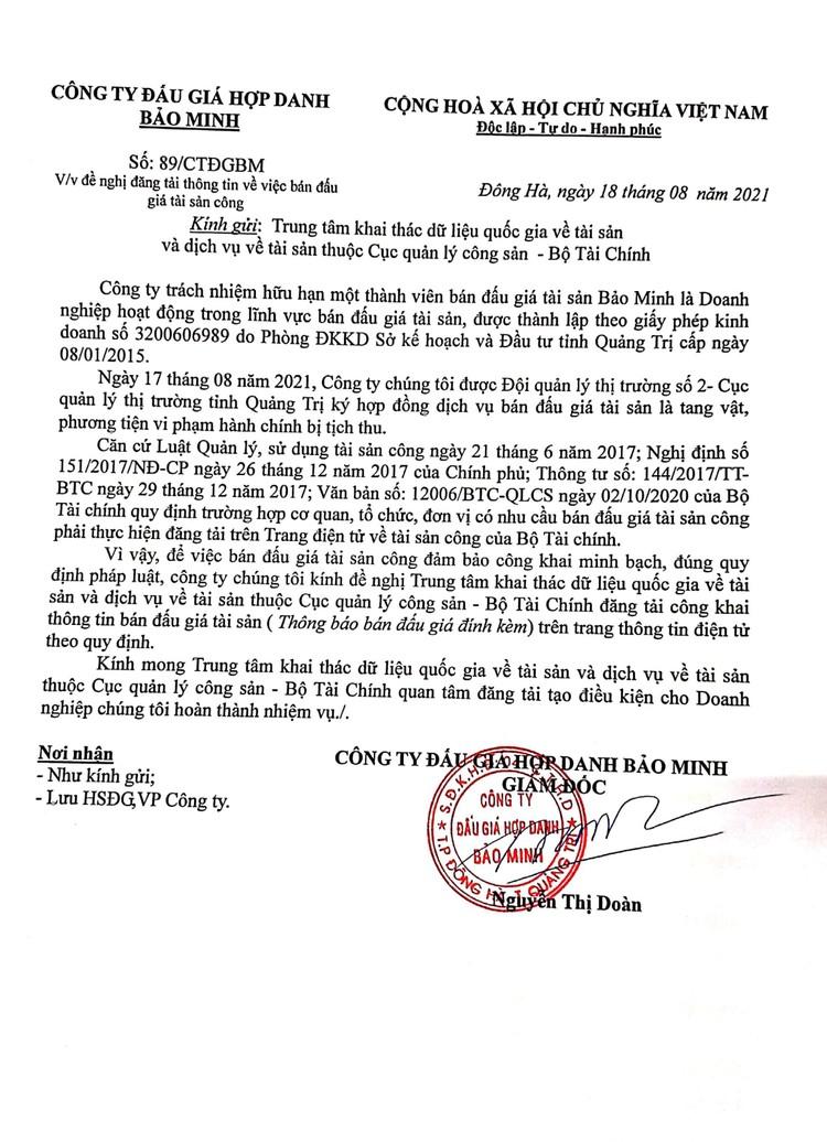 Ngày 26/8/2021, đấu giá đường kính trắng tại tỉnh Quảng Trị ảnh 2