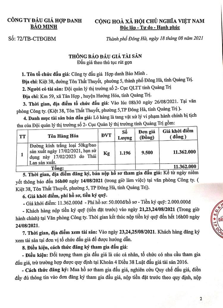 Ngày 26/8/2021, đấu giá đường kính trắng tại tỉnh Quảng Trị ảnh 3