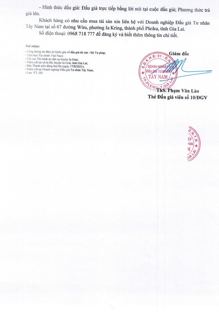 Ngày 1/9/2021, đấu giá quyền sử dụng đất tại huyện Ia Grai, tỉnh Gia Lai ảnh 3