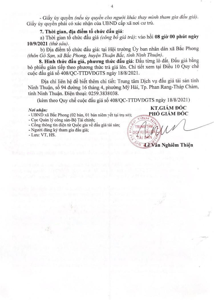 Ngày 10/9/2021, đấu giá cho thuê 45 quyền sử dụng đất tại huyện Thuận Bắc, tỉnh Ninh Thuận ảnh 5