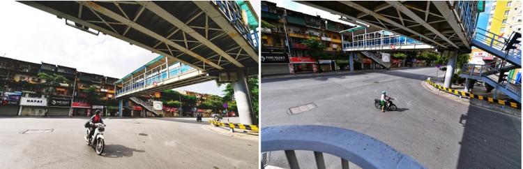 Quảng trường, các nút giao ở Hà Nội trong ngày giãn cách ảnh 10