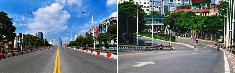 Quảng trường, các nút giao ở Hà Nội trong ngày giãn cách ảnh 15