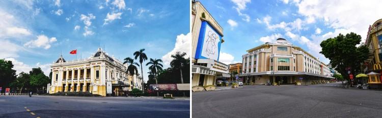 Quảng trường, các nút giao ở Hà Nội trong ngày giãn cách ảnh 1