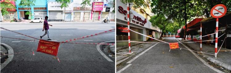 Quảng trường, các nút giao ở Hà Nội trong ngày giãn cách ảnh 8