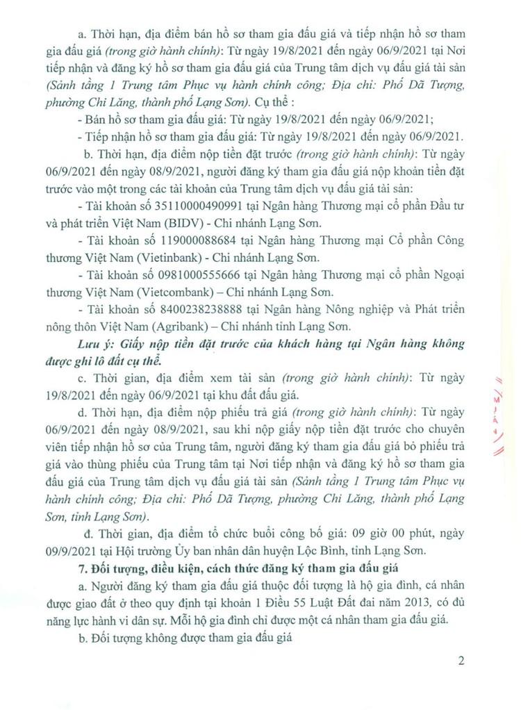 Ngày 9/9/2021, đấu giá quyền sử dụng 12 lô đất tại huyện Lộc Bình, tỉnh Lạng Sơn ảnh 4
