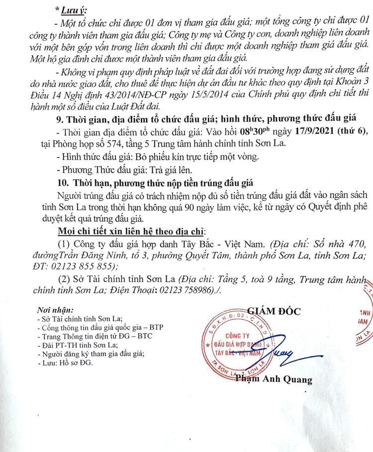 Ngày 17/9/2021, đấu giá quyền sử dụng 5.177 m2 đất tại thành phố Sơn La, tỉnh Sơn La ảnh 4