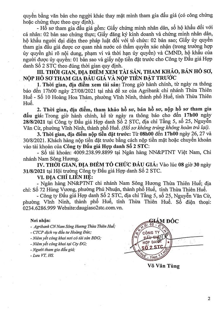 Ngày 31/8/2021, đấu giá xe ô tô Ford tại tỉnh Thừa Thiên Huế ảnh 3