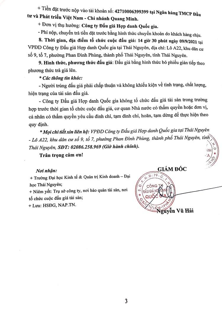 Ngày 9/9/2021, đấu giá xe ô tô TOYOTA HIACE tại tỉnh Thái Nguyên ảnh 4
