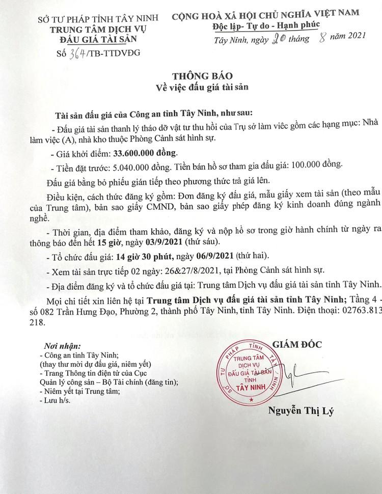 Ngày 6/9/2021, đấu giá tài sản thanh lý tháo dỡ vật tư thu hồi tại tỉnh Tây Ninh ảnh 3