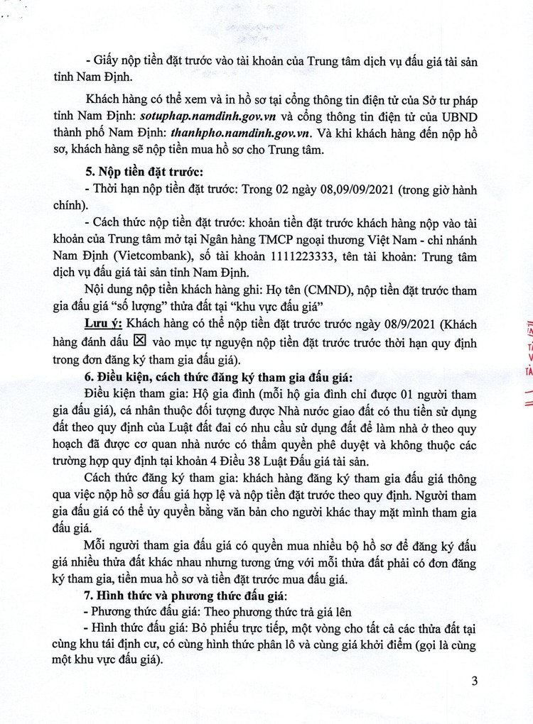 Ngày 12/9/2021, đấu giá quyền sử dụng 112 thửa đất tại TP.Nam Định, tỉnh Nam Định ảnh 4