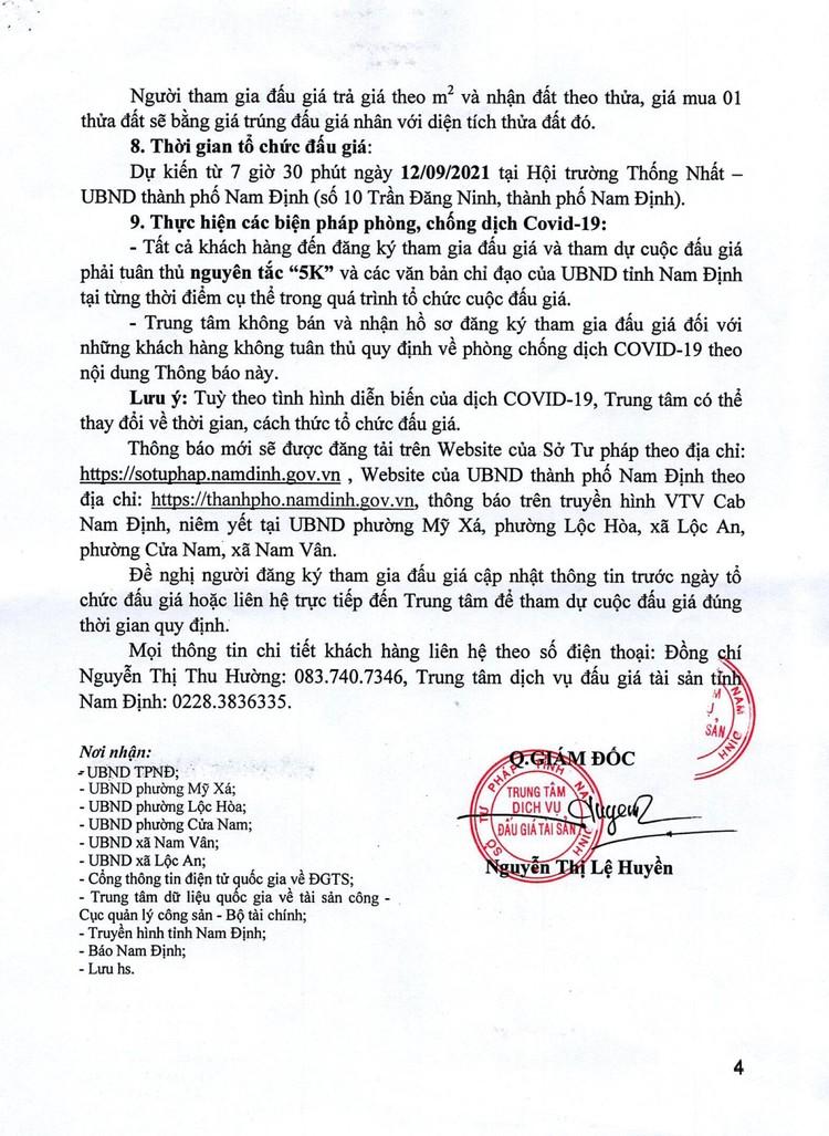 Ngày 12/9/2021, đấu giá quyền sử dụng 112 thửa đất tại TP.Nam Định, tỉnh Nam Định ảnh 5