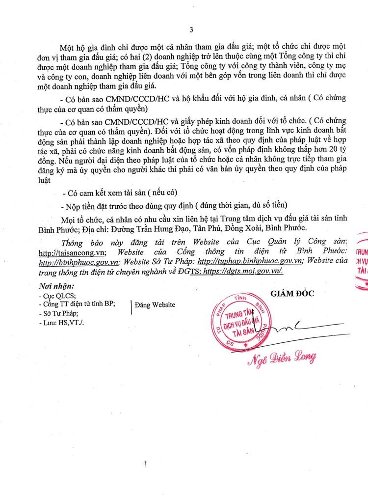 Ngày 16/9/2021, đấu giá quyền sử dụng 22 lô đất tại huyện Phú Riềng, tỉnh Bình Phước ảnh 5