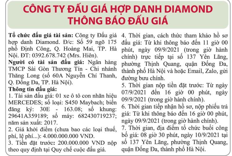 Ngày 10/9/2021, đấu giá xe ô tô Mercedes tại Hà Nội ảnh 1