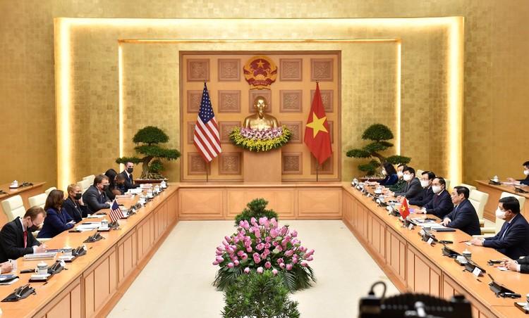 Thủ tướng Phạm Minh Chính tiếp Phó Tổng thống Hoa Kỳ Kamala Harris ảnh 6