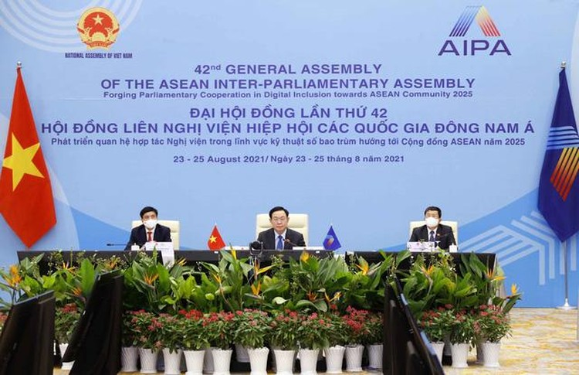 Đại hội đồng AIPA 42: Chủ tịch Quốc hội Vương Đình Huệ ký Thông cáo chung tại Phiên toàn thể thứ hai ảnh 6