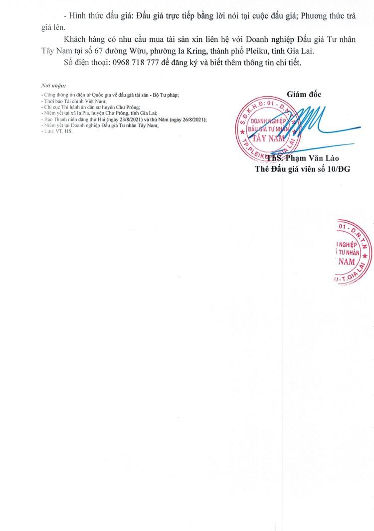 Ngày 16/9/2021, đấu giá quyền sử dụng 1.126 m2 đất tại huyện Chư Prông, tỉnh Gia Lai ảnh 3