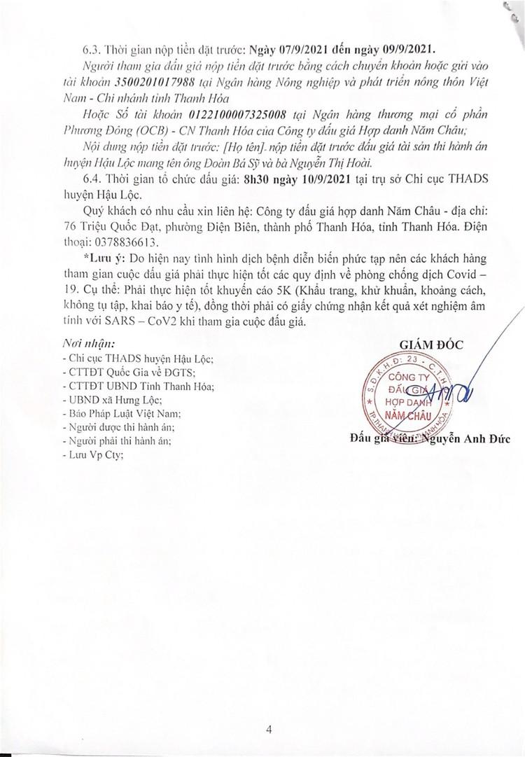 Ngày 10/9/2021, đấu giá quyền sử dụng 2 thửa đất tại huyện Hậu Lộc, tỉnh Thanh Hóa ảnh 5