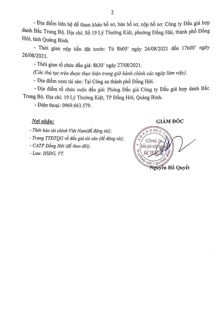Ngày 27/8/2021, đấu giá máy làm hương tại tỉnh Quảng Bình ảnh 3