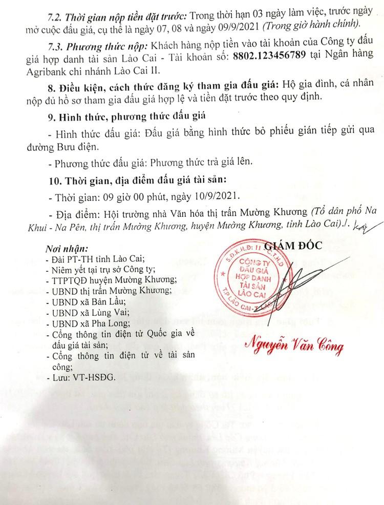 Ngày 10/9/2021, đấu giá quyền sử dụng 39 thửa đất tại huyện Mường Khương, tỉnh Lào Cai ảnh 5